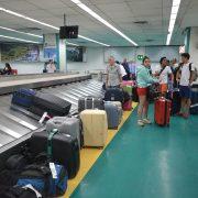 Cinta de equipaje en un aeropuerto