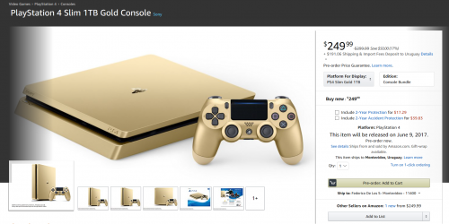 Comprar consolas PlayStation 4 Slim 1TB Gold