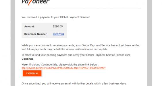scam payoneer